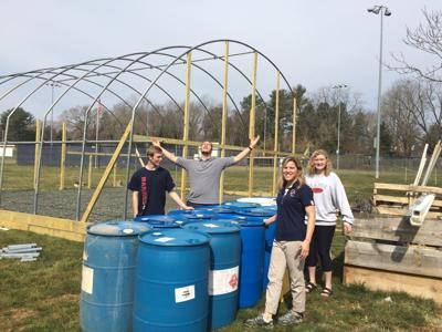 Growing and knowing: OCHS science students, staff construct greenhouse, native plants garden