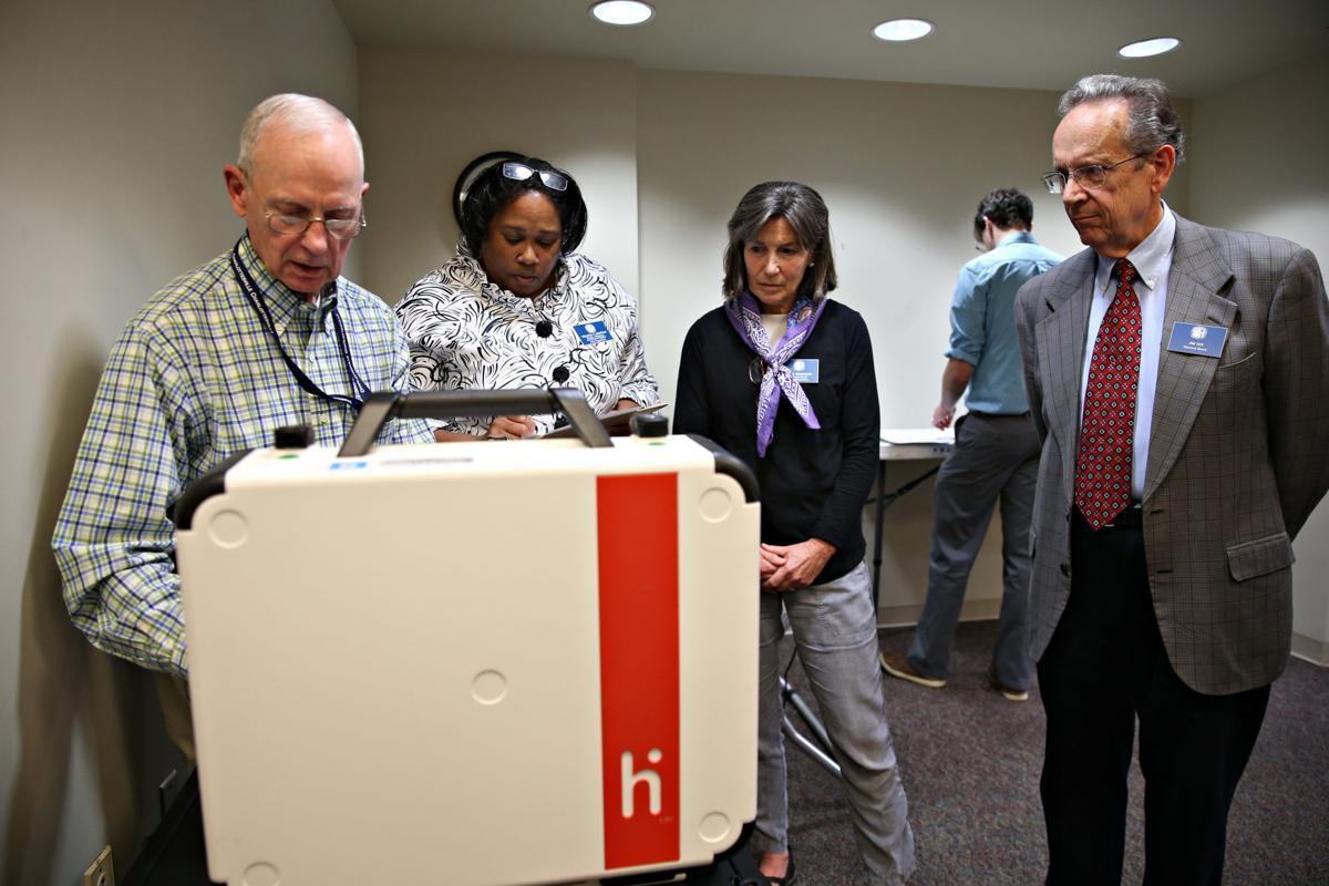 Absentee voting machine test