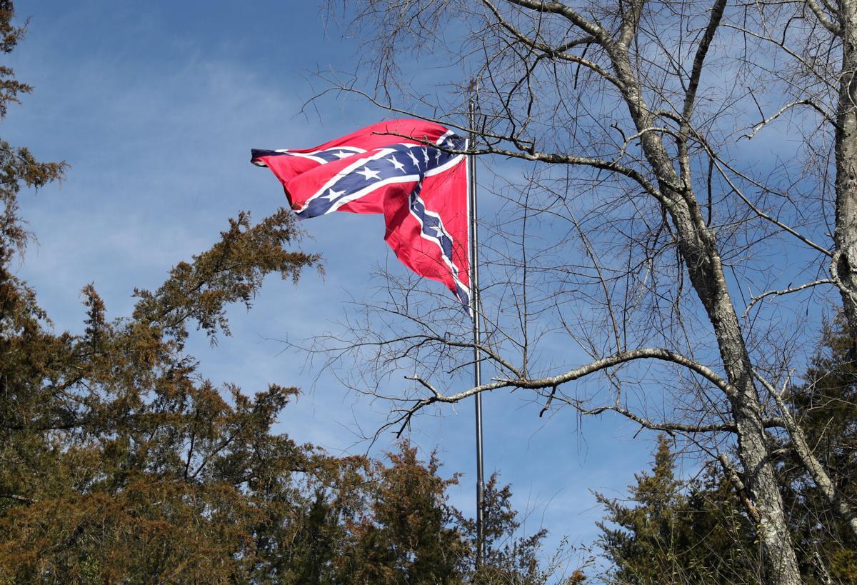 Confederate flag in Louisa