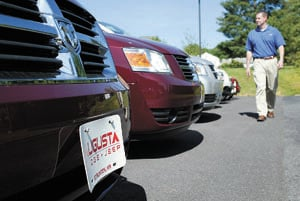 Chris Lint, A Sales Representative At Augusta Dodge Jeep, Walks Through The  Dealershipu0027s Parking Lot Of New Vehicles Tuesday In Staunton.