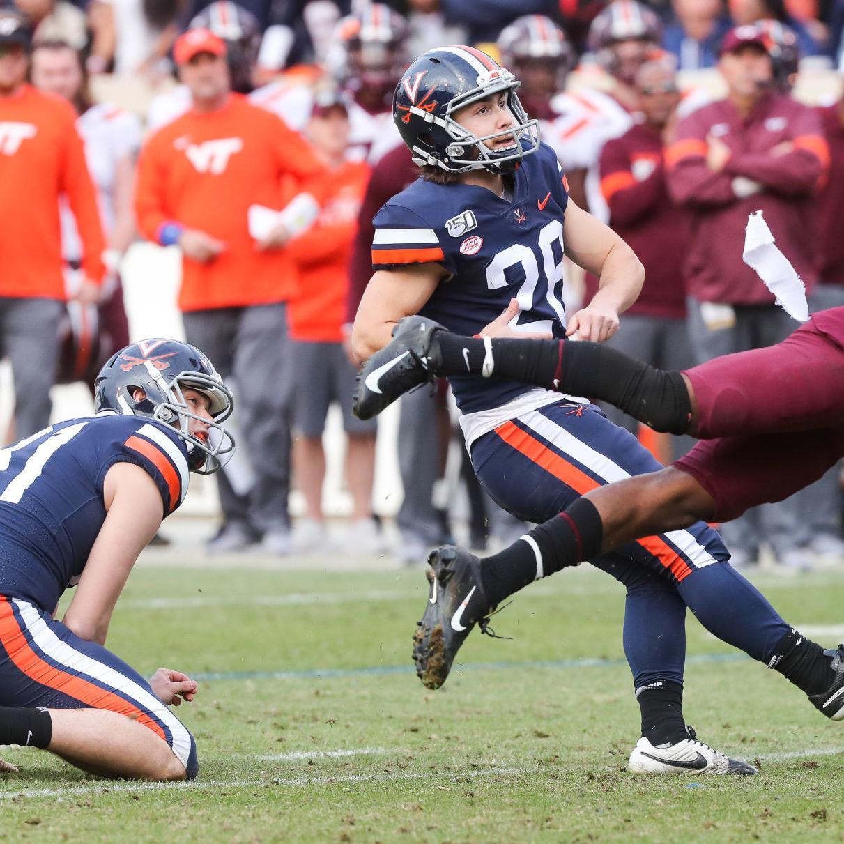 Virginia Football Notebook Delaney Delivers Biggest Kick Of