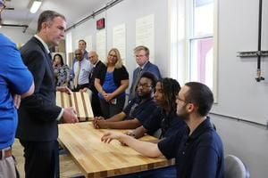 Northam gets firsthand look at Wilson Workforce programs