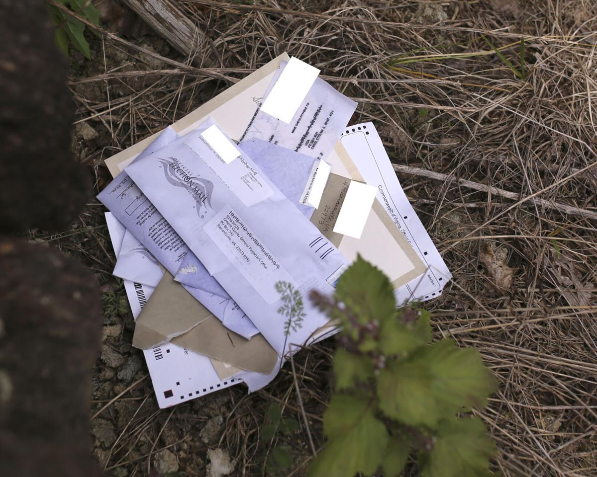 Discarded mail-in ballots were found beside Dundee Road