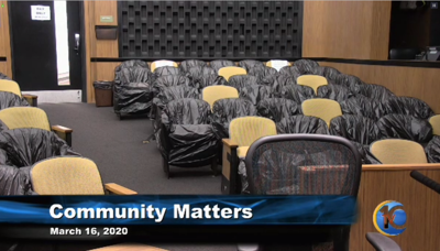 Empty City Council meeting