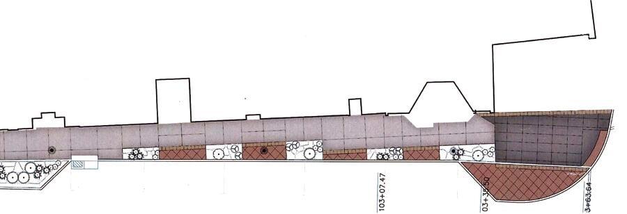 Orange streetscape improvement rendering