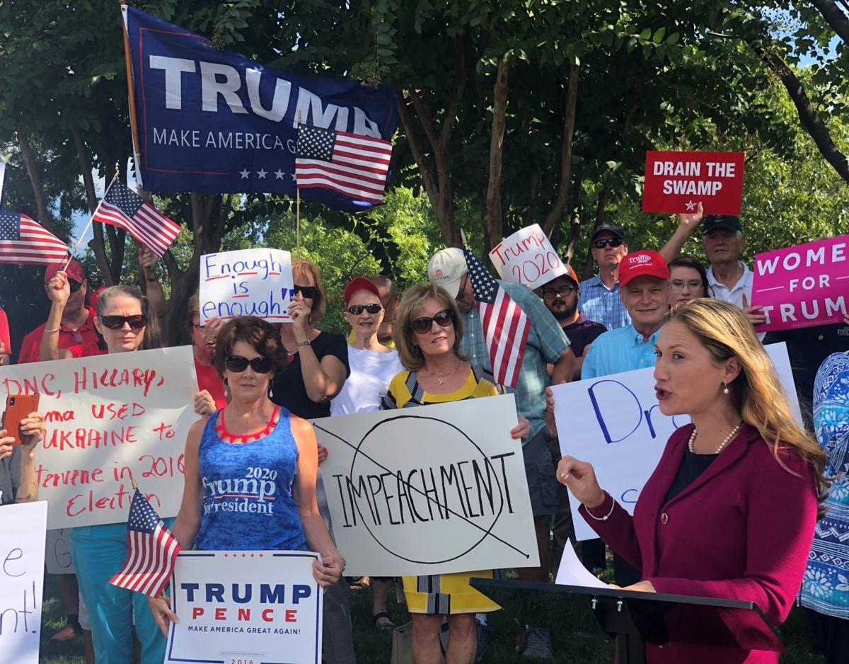 Tina Ramirez at pro-Trump rally