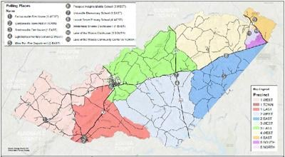 OC revised redistricting map_RRRC-with polling places
