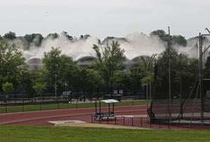 So long to Ralph's House: University Hall imploded