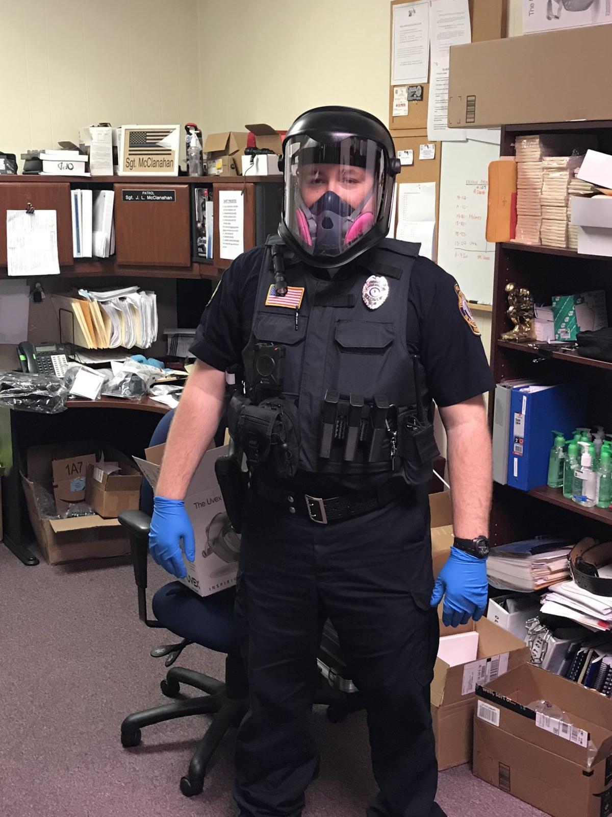 Orange Police officer Stephen Coyle in PPE