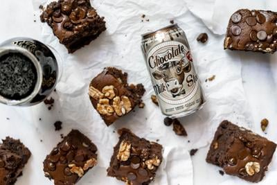 Stout and chocolate chunk brownies: You read that right. We're making beer brownies!