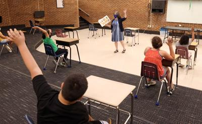 Fifth-graders at Walton