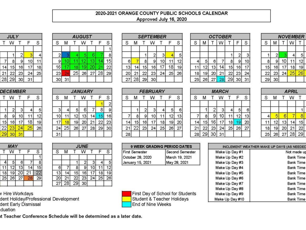 Pictures of Orange County 2021 Calendar