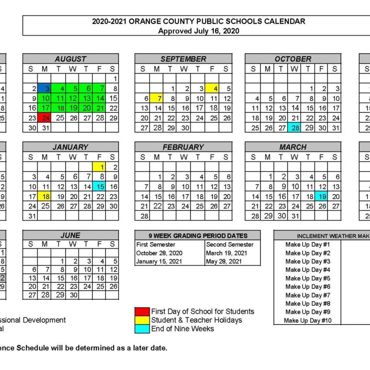 Orange County 2021 Calendar Pictures