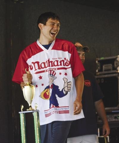 Second on the Fourth: Breeden is  runner up at hot dog eating contest