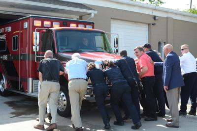 County of Orange Fire and EMS rolls back into town