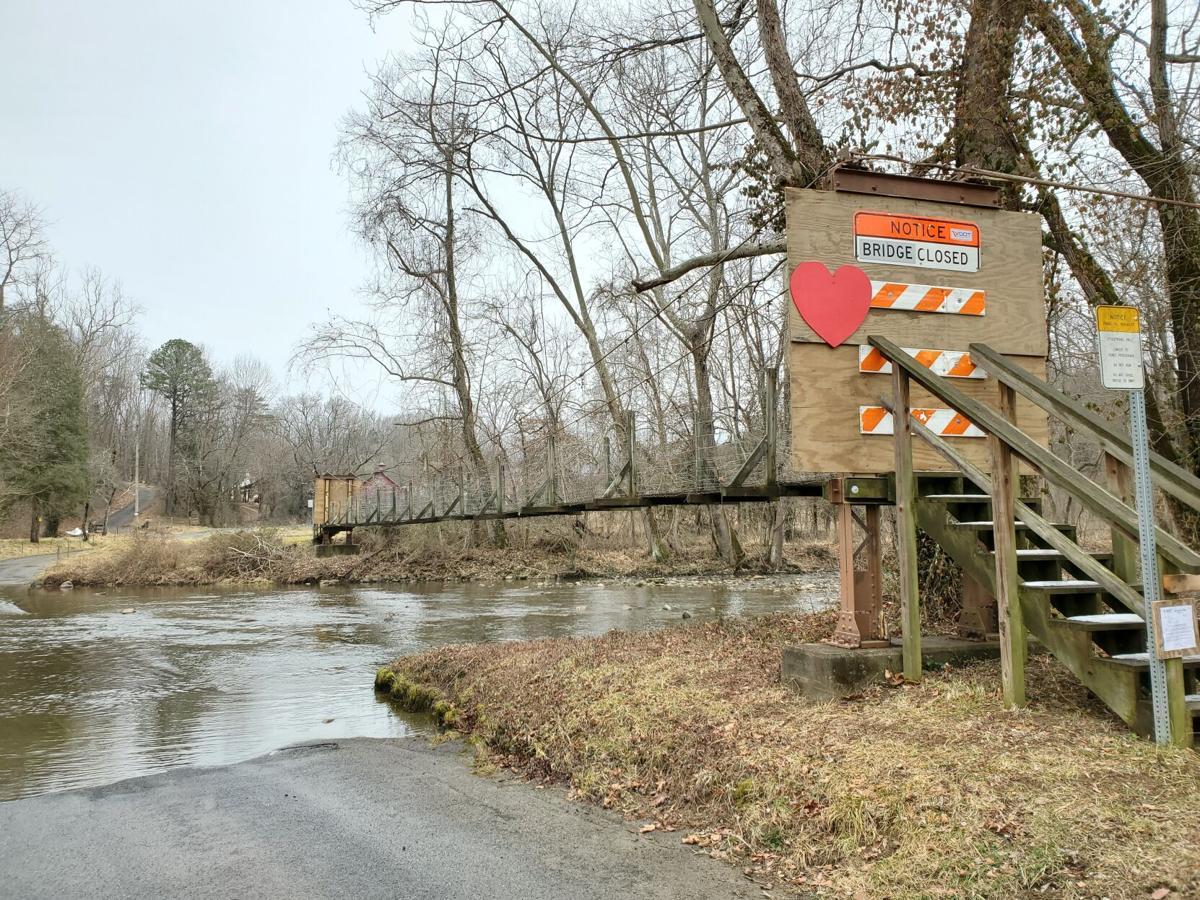 Lindsay Lane bridge - Valentines Day