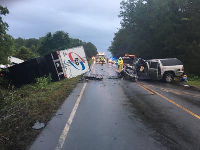 Head-on crash on Route 20