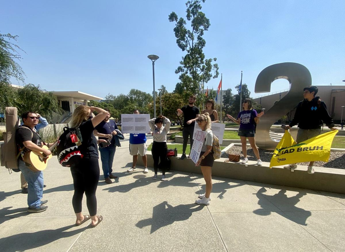 Turning Point USA at CSUF protest