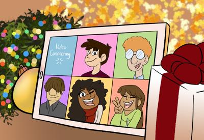 Covid Holidays Illustration