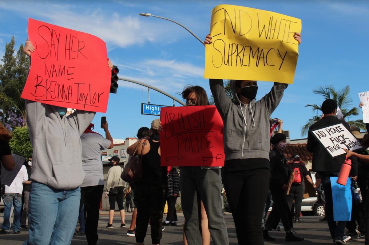 Police break up Fullerton protest over George Floyd's death