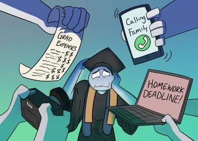 Graduation traditions illustration
