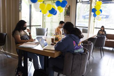 Students study at Qargo Coffee