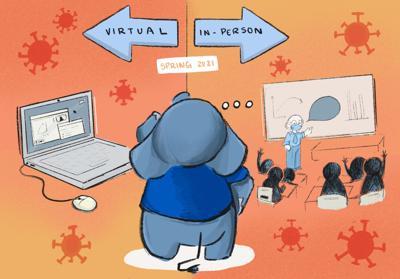 Virtual semester v. In-person semester
