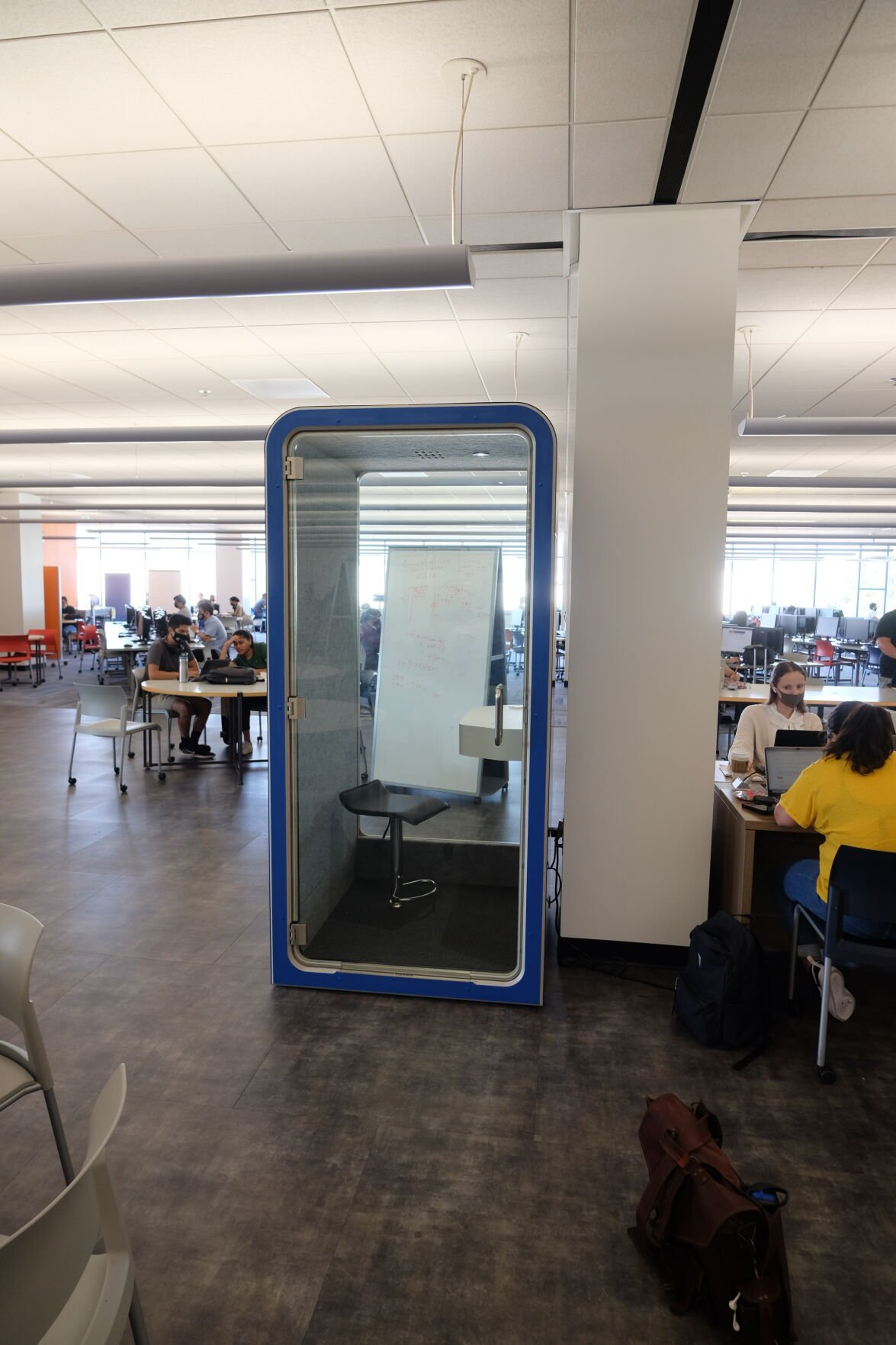 phone booth study areas