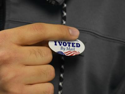 Voting Sticker Photo Illustration