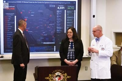 The Health Departent held a news conference regarding the Coronavirus or COVID-19.