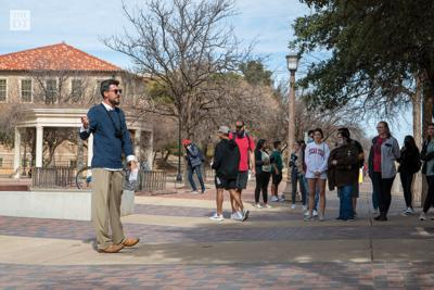 Ryan Denton preaches in the Free Speech Area (copy)