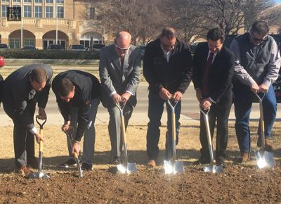 Breaking ground on the Womble Practice Facility