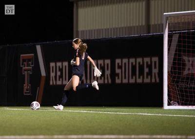 Madison White takes a goal kick