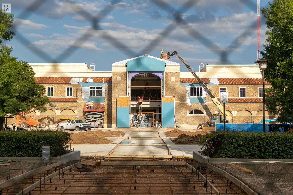 Dustin R. Womble Basketball Center construction