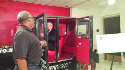 Frullo makes donation to restore 1927 Model-T