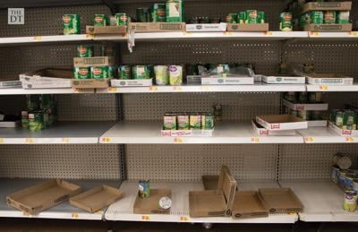 Empty Grocery Shelves Due to COVID-19 Precautions