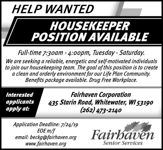 Help Wanted Fairhaven