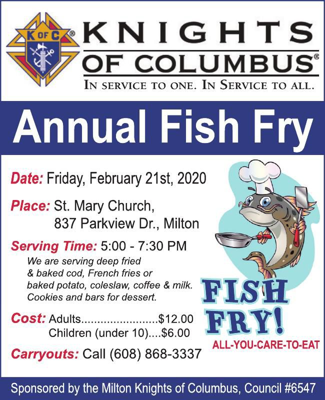 Knights of Columbus Annual Fish Fry