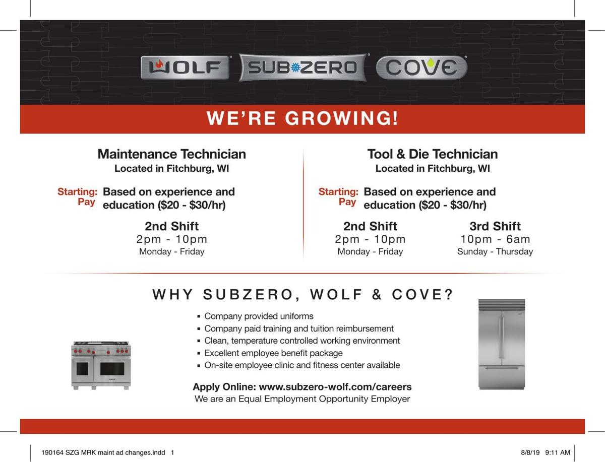 Help Wanted Wolf Sub Zero Cove