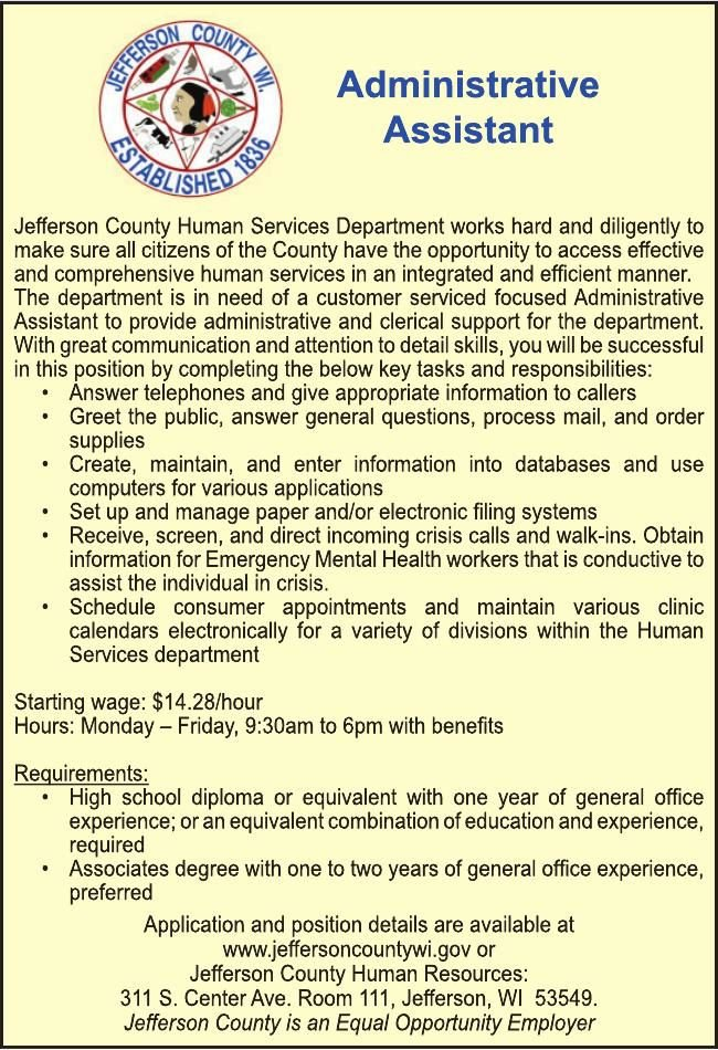 Jefferson Coutny Administrative Assistant