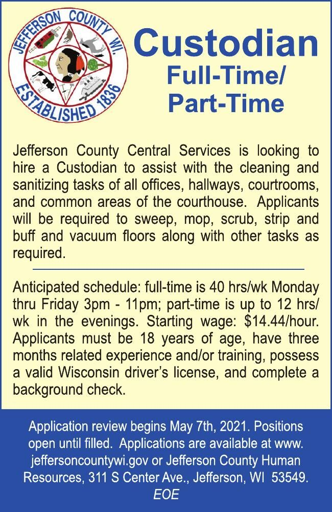 Jefferson County Human Resources Custodian
