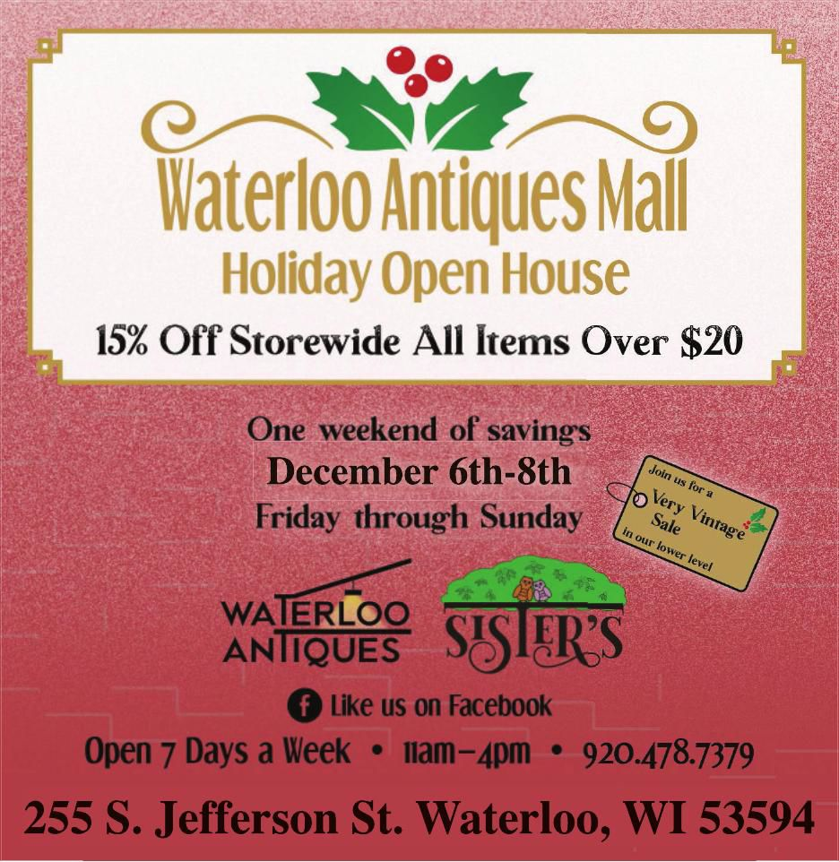 Waterloo Antiques Mall Holiday Open House