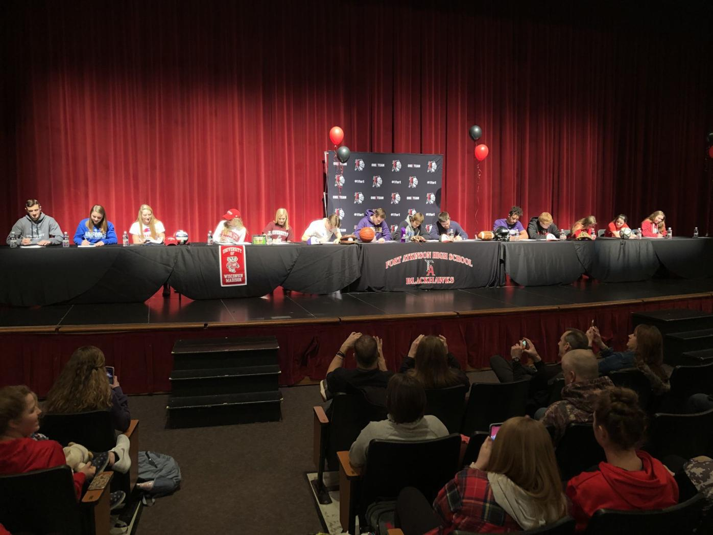 Fort Atkinson recognizes 15 athletes