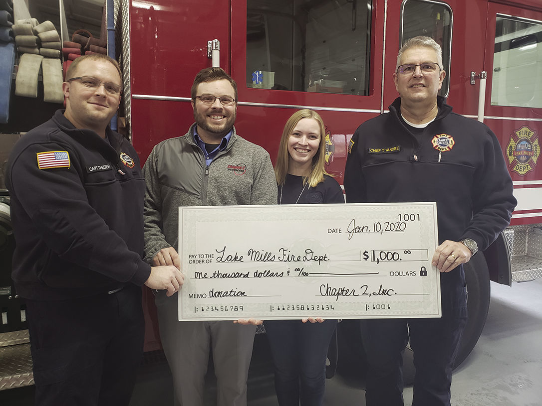 Lake Mills Fire Department Donation