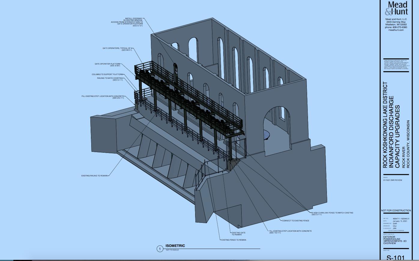 Artist rendition of exterior dam modification
