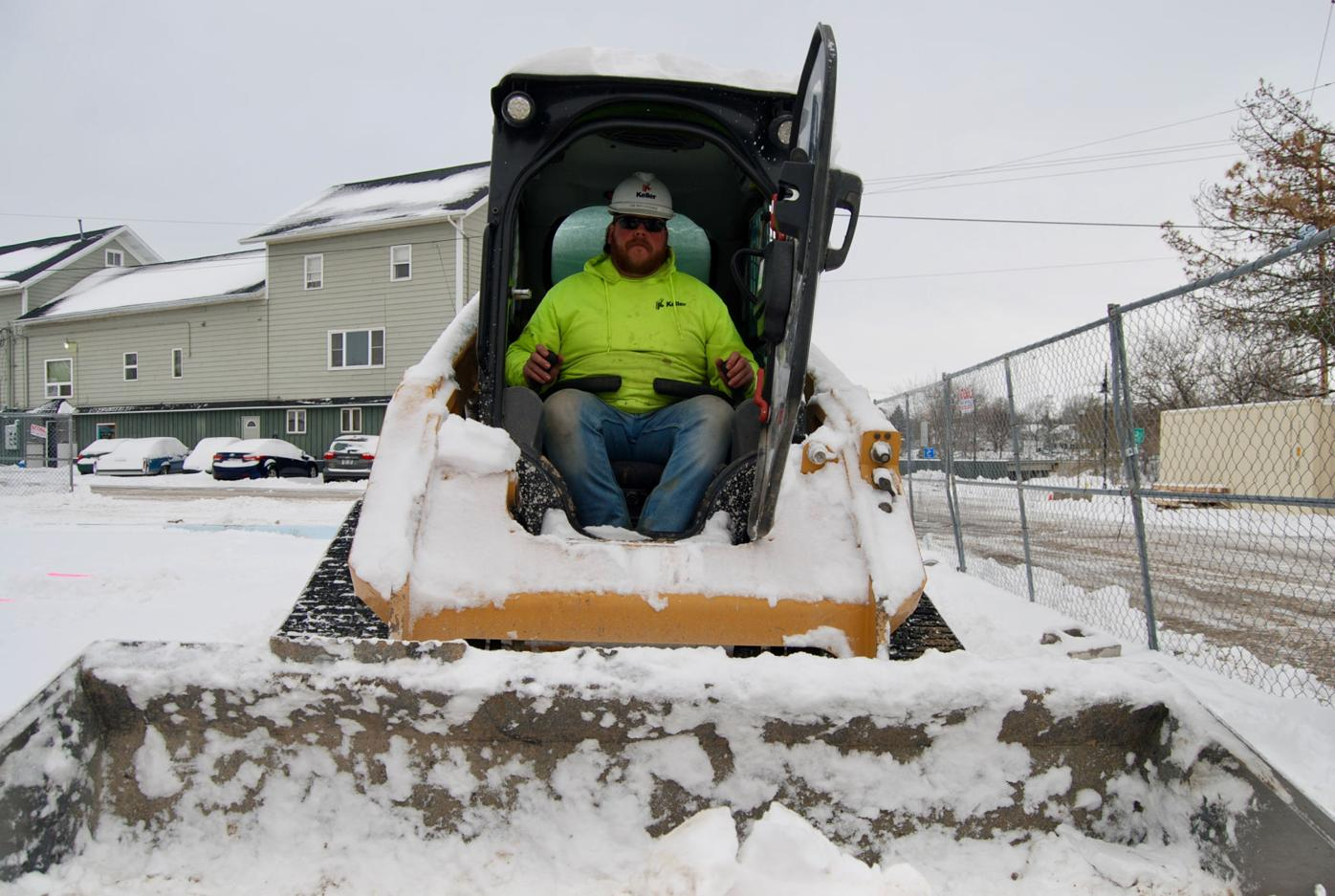Keller in the snow