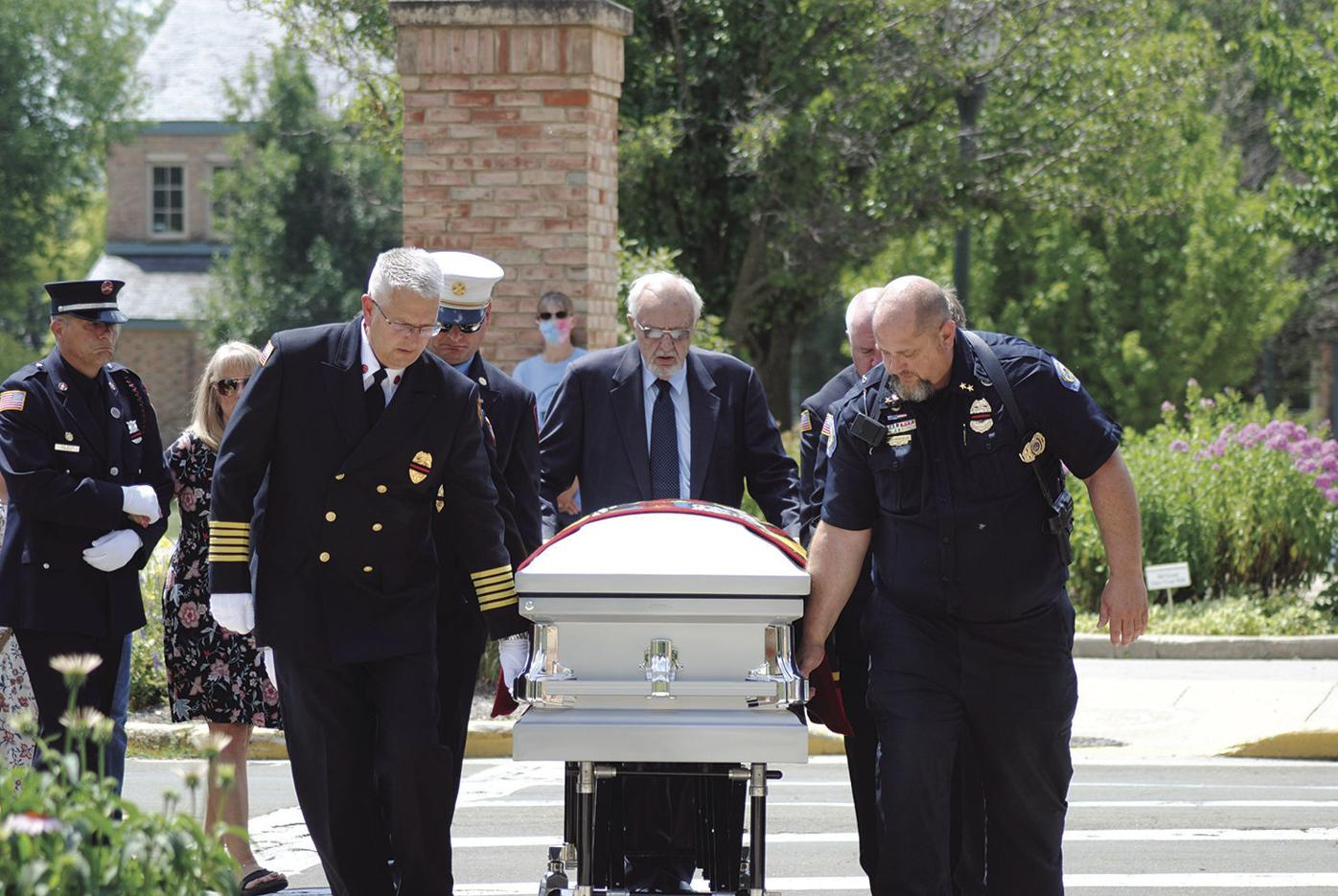 Capt. Mark Bentheimer's funeral
