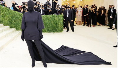 Kardashian's Met Gala outfit got all the Twitter shade