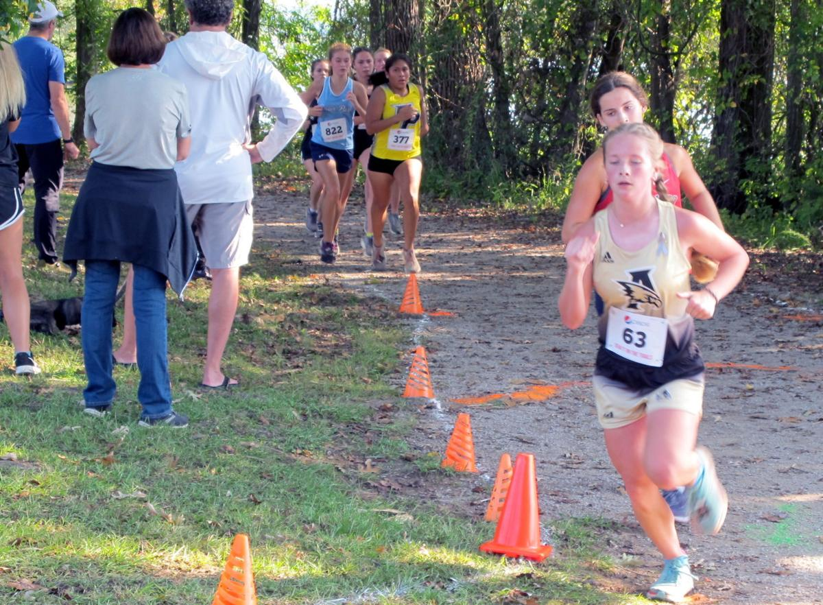 Athens girls Abbie Ogles 63 tries to hold her position.jpg
