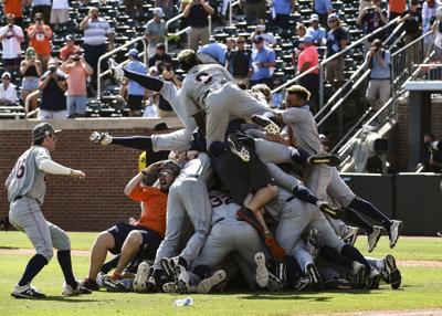 Auburn baseball celebration